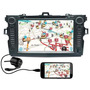 Central Multimidia Corolla Tela 8 Gps Kit Original Toyota