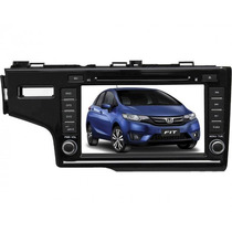 Central Multimídia Honda Fit 2015 Tela 8 Gps Dvd Usb Cam Ré
