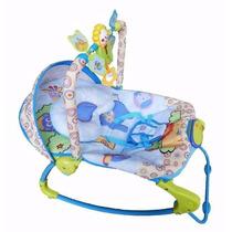Cadeirinha Bebê Descanso Musical Vibratória Rocker Azul
