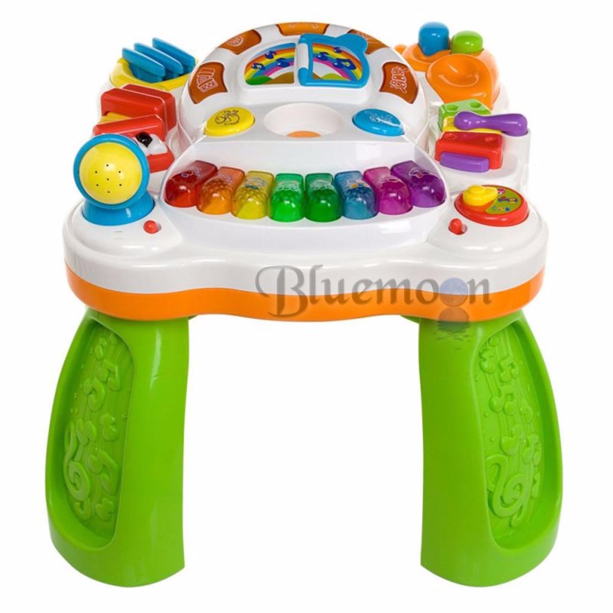 Centro interativo super mesa de atividades musical for Mesa infantil