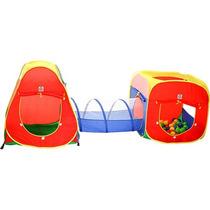 Toca Barraca 3 Em 1 Infantil Com 150 Bolinhas 4601 - Braskit