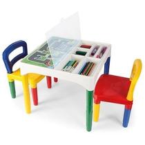 Mesa Mesinha Didática Infantil C/ Cadeiras Poliplac