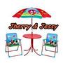 Conjunto De Mesa, Cadeira E Guarda-sol Infantil Mickey Mouse