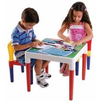 Mesa Mesinha Didática Infantil Cadeiras E Acessórios Belltoy