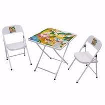 Mesa Infantil De Aco Quadrada C/2 Cadeiras