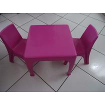 Mesinha Infantil Rosa Com Cadeiras Cadeirinha Mini Mesa