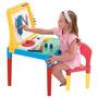 Mesa Lousa Infantil Pequeno Artista Com Cadeira E Quadro