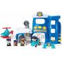 Brinquedo Com Bonecos Carro Polícia Metro Presente Luz E Som