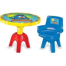 Mesa Com Cadeira Galinha Pintadinha Líder