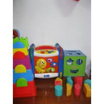 Brinquedos Para Bebês Cores, Numeros, Formas ,encaixes Sons