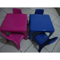 Mesinha Infantil Com Cadeiras Cadeirinha Mini Mesa