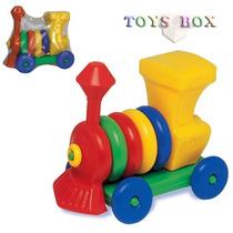 Locomotiva Brinquedo Educativo Didático P/ Montar Trem