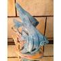 Bibelô Escultura Art Deco Antiga Peixes Cerâmica