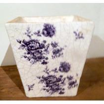 *160* Vaso Italiano Em Ceramica Pintura Esmalte Craquelada