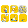 Porta-copos Homer Simpson Fundo Amarelo - 6 Peças - Em Vidro