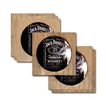 Conjunto 6 Porta-copos Rótulo Jack Daniels