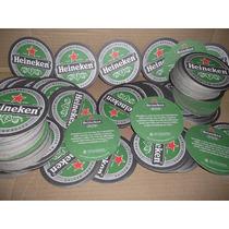 Bolachas Chopp Heineken 9cm Originais 50 Peças Porta Copos