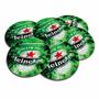 Conjunto 6 Porta-copos Heineken Pilsen Em Cortiça