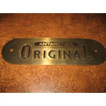 Plaqueta Em Bronze Da Original Antarctica, Com 14,5 Cm Comp.