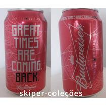 Rara Lata Budweiser Vermelha- Anderson Silva Ufc