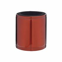 Porta Lata Para Cerveja 350ml Vermelho Em Inox Térmica Mor