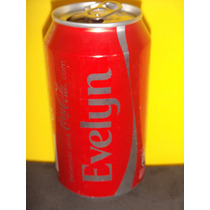Lata Coca-cola Zero Nomes Evelyn Evelin 2015 Rexam N191