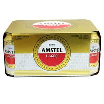 Cerveja Amstel Lata Pack Com 12 Unidades De 350ml