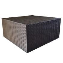 Mesa De Centro Junco Fibra Vime Sintético 60x60x40cm