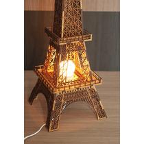 Torre Eiffel 3d Decoração Abajur Com Sistema Iluminação
