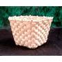 Cachepot - Vaso Palha De Milho - 15 X 15 X 13-ecobalaio