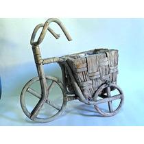 Bicicleta Em Vime Com Cestinha, 1 Und