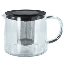 Chaleira Com Infusor De Chá 1.7 Litros Em Vidro E Aço Bule