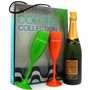 Kit Champagne Chandon Reserve Brut 2 Taças Coloridas (750ml)