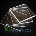 Chapa Placa De Acrílico Cristal 20 Cm X 20 Cm 10mm