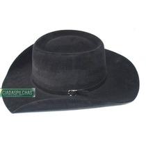 M- Chapéu Country Australiano Rodeio Cor Preto Aba 8,8cm