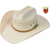 Chapéu Eldorado Silverado Bege Com Banda Avestruz
