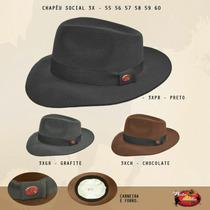 Chapeu Indiana Jones Marrom / Preto / Cinza