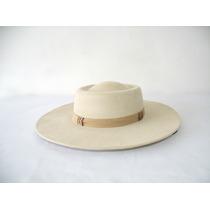 P - Chapéu Campeiro Minuano Cor Marfim Aba 10cm+barbicacho