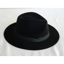 P - Chapéu Indiana Jones Preto