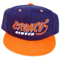 Vintage Denver Broncos Flatbill Snapback Boné Chapéu