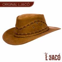 Chapeu Couro Legitimo Boiadeiro Country Cowboy Australiano