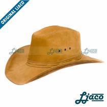 Chapeu Em Couro Legitimo Americano Boiadeiro Country Cowboy