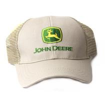Banheiro Deere Ajustável Camionista Malha Snapback Hat, Bege