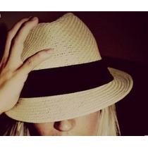 Chapéu Moda Panamá Aba Curta Masculino Feminino Praia Casual