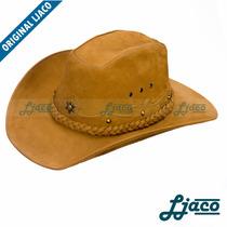 Chapeu Americano Couro Country Cowboy Masculino Feminino Aec