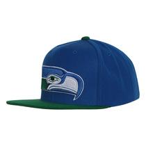 Seatlle Seahawks Logotipo Mitchell & Ness Snapback Boné