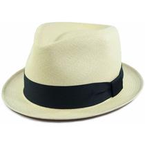 Chapéu Panamá Fedora Aba Curta 4cm Original Feminino Raro