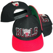 Chicago Bulls Superblock Preto/vermelho Snapback Boné