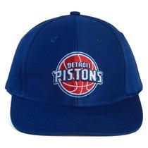 Adidas Nba Detroit Pistons Snapback Chapéu Boné - Azul
