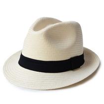 Chapéu Moda Panamá Casual Praia Aba Curta Masculino Feminino